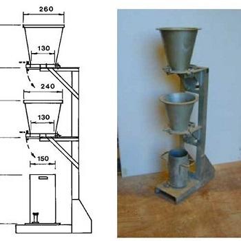 دستگاه اندازهگیری ضریب تراکم بتن