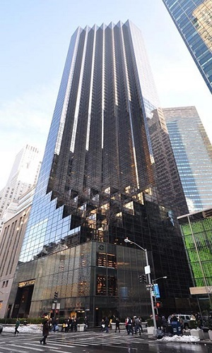برج ترامپ در نیویورک با بتن خود تراکم