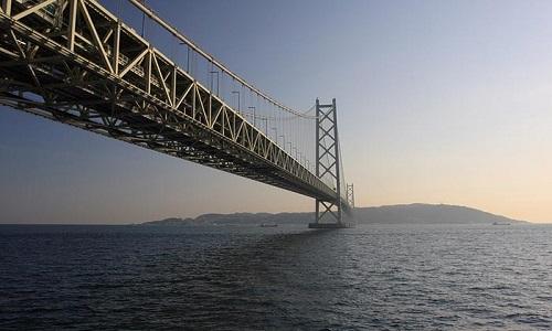 پل آکاشی کایکو ژاپن با بتن خودمتراکم